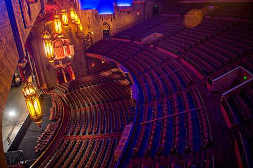 Photo: Jonathan Phillips  A view from above the main stage at the Fox Theatre in Atlanta on Monday, June 22, 2015.