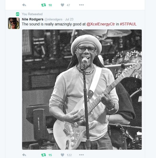 Nile Rogers at Xcel Energy Center