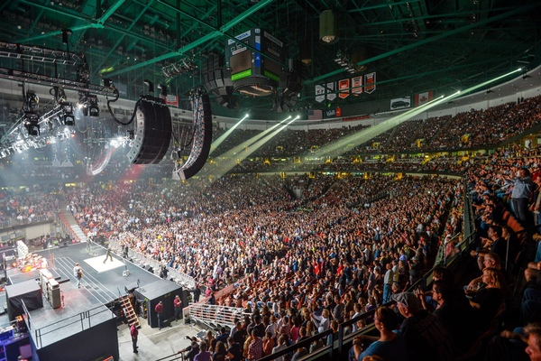 Honda Center Interior - concert