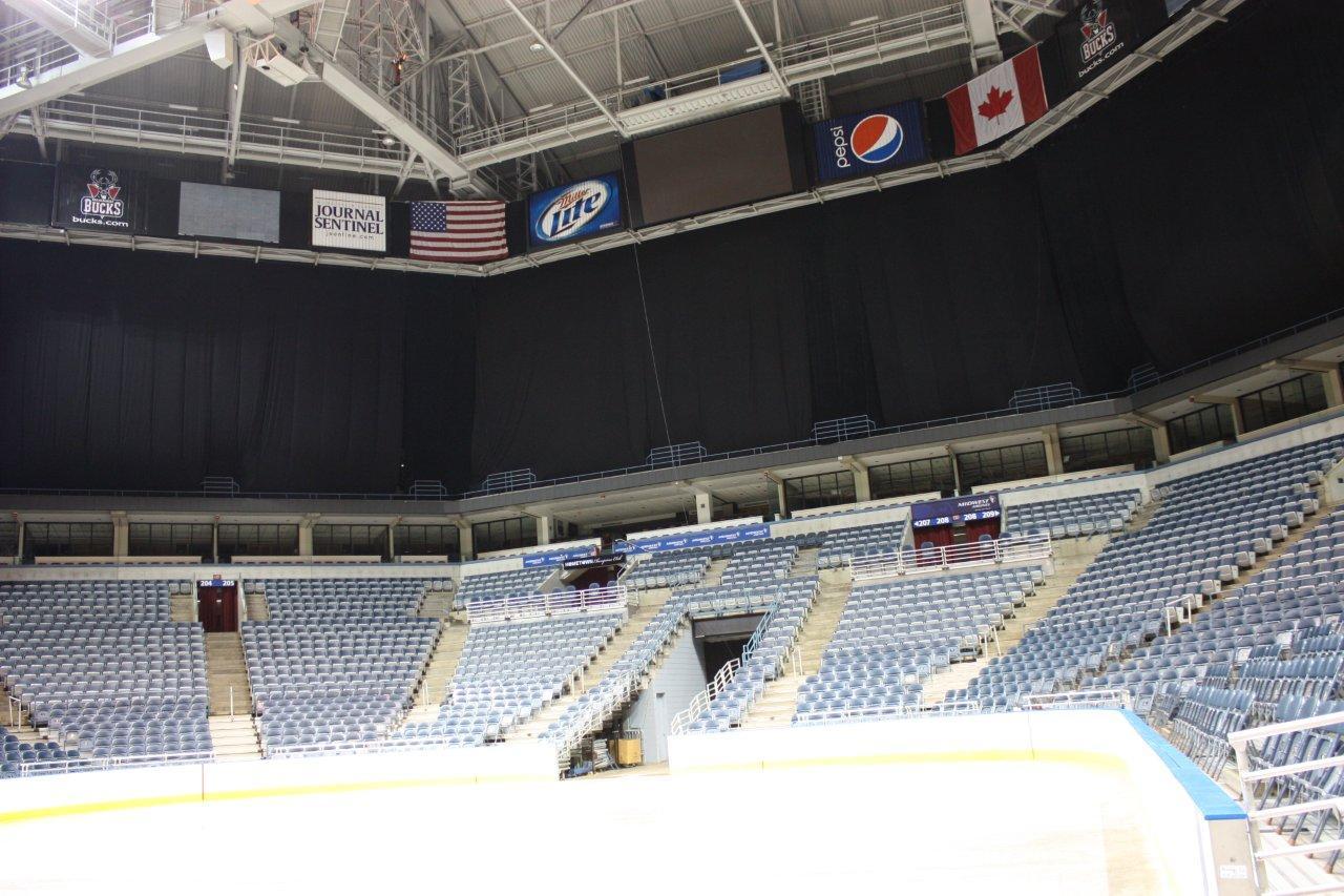 Upper Bowl curtain at BMO Harris Bradley Center